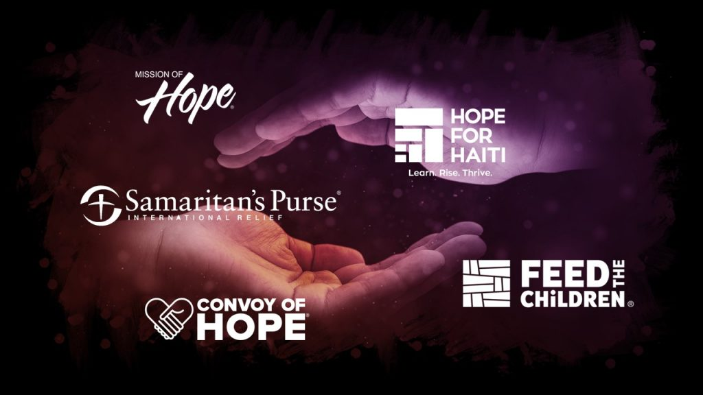 Samaritans Purse, Mission of Hope, Hope for Haiti, Feed the Children, Convoy of Hope